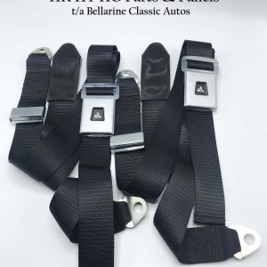 HT HG Sedan Front Black Lap Sash Seat Belts A Pair of Front Lap Sash Seat Belts