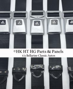 HT HG Black Seat Belts - Set of 5