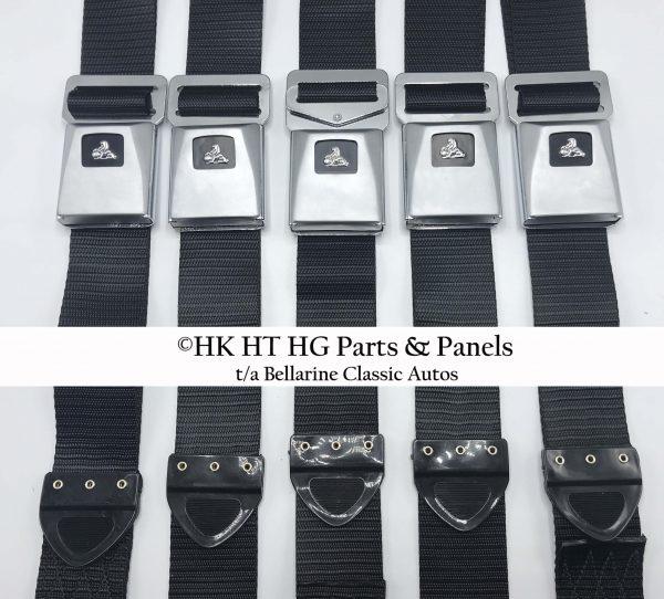 HT HG Black Seat Belts - Set of 5