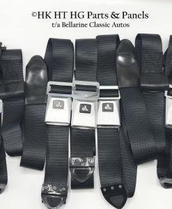 HT HG Monaro Black Seat Belts - Set of 5
