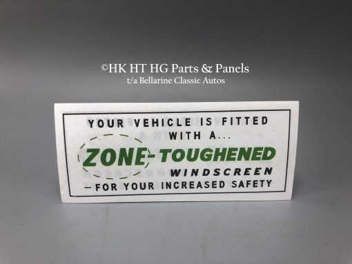 Zone toughened decal