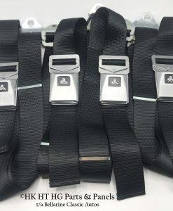 HK Monaro Black Seat Belts set of 5