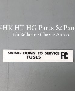 Fuse service decal