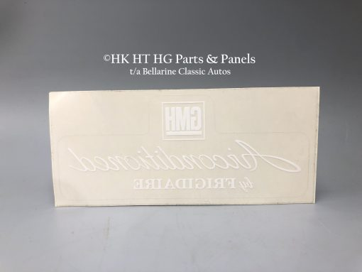 GMH Frigidaire air con decal