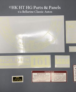 Holden 161 Decal Set