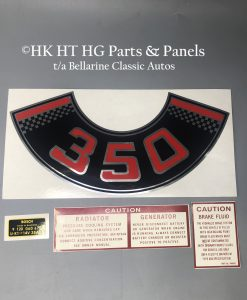 Holden HT 350 Decal set