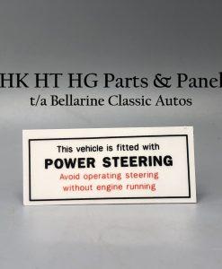 Power Steering Decal