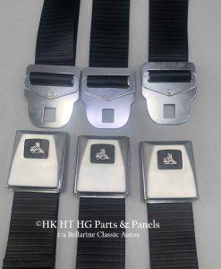 HK Sedan Rear Set of Seat Belts in Black