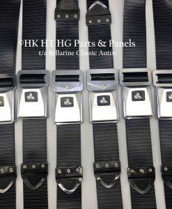 HT HG Black Seat Belts Set of 6