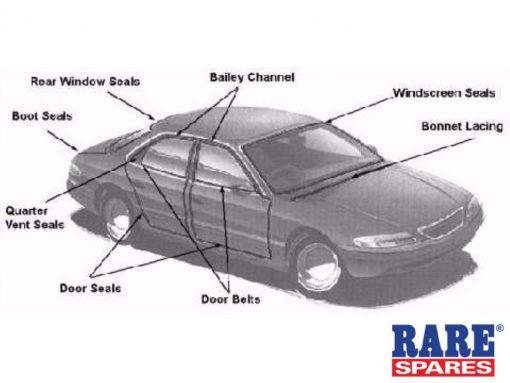 Holden Door Belt HT HG Sedan Rhr Outer Lhr Inner