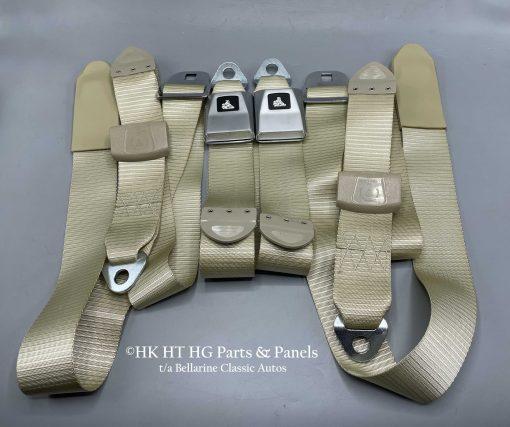 SANDALWOOD FRONT LAP SASH SEAT BELTS